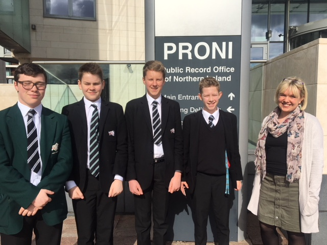 Members of the CCB News Team with PRONI Staff