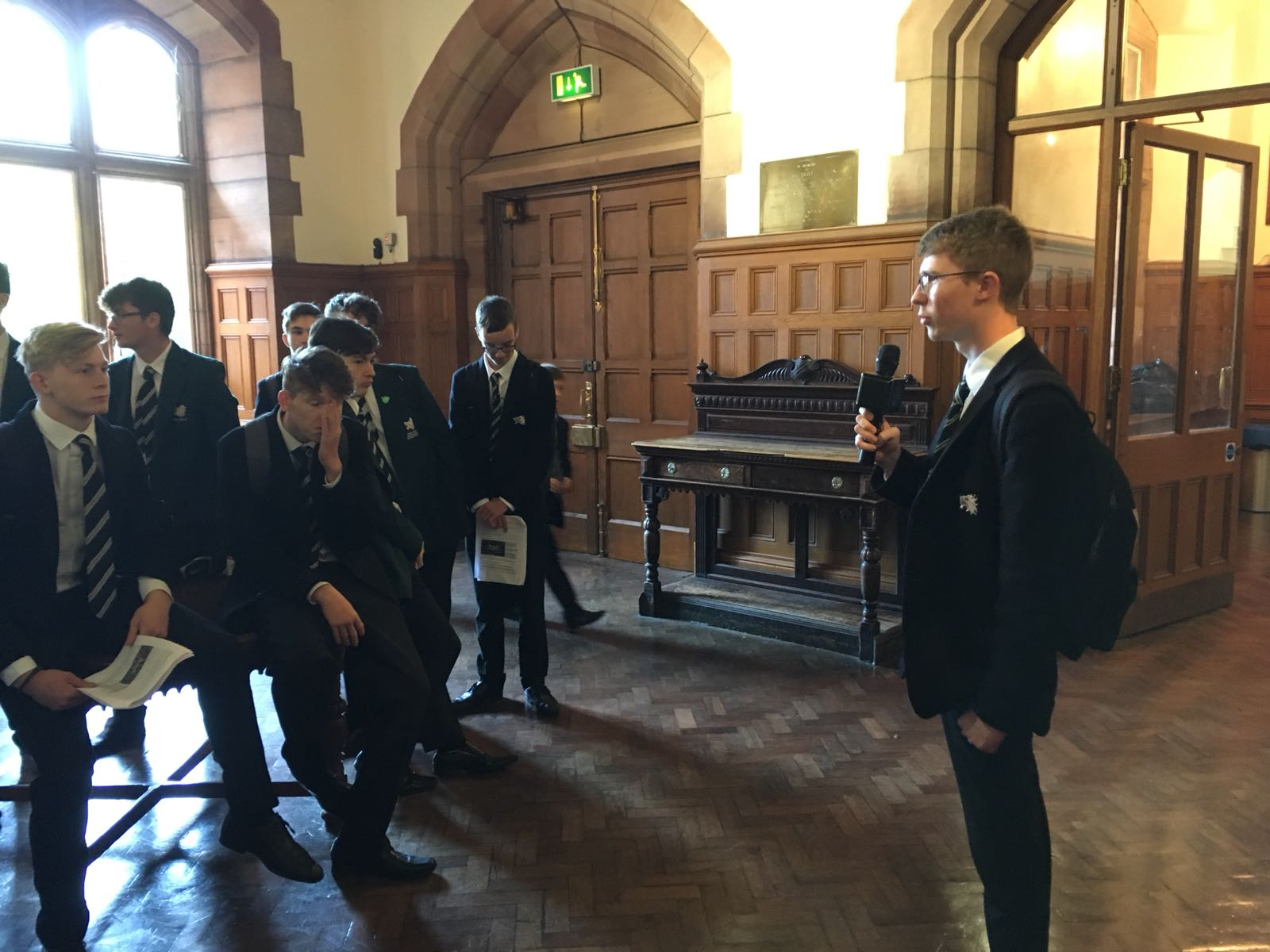Pupils rehearsing their tours.