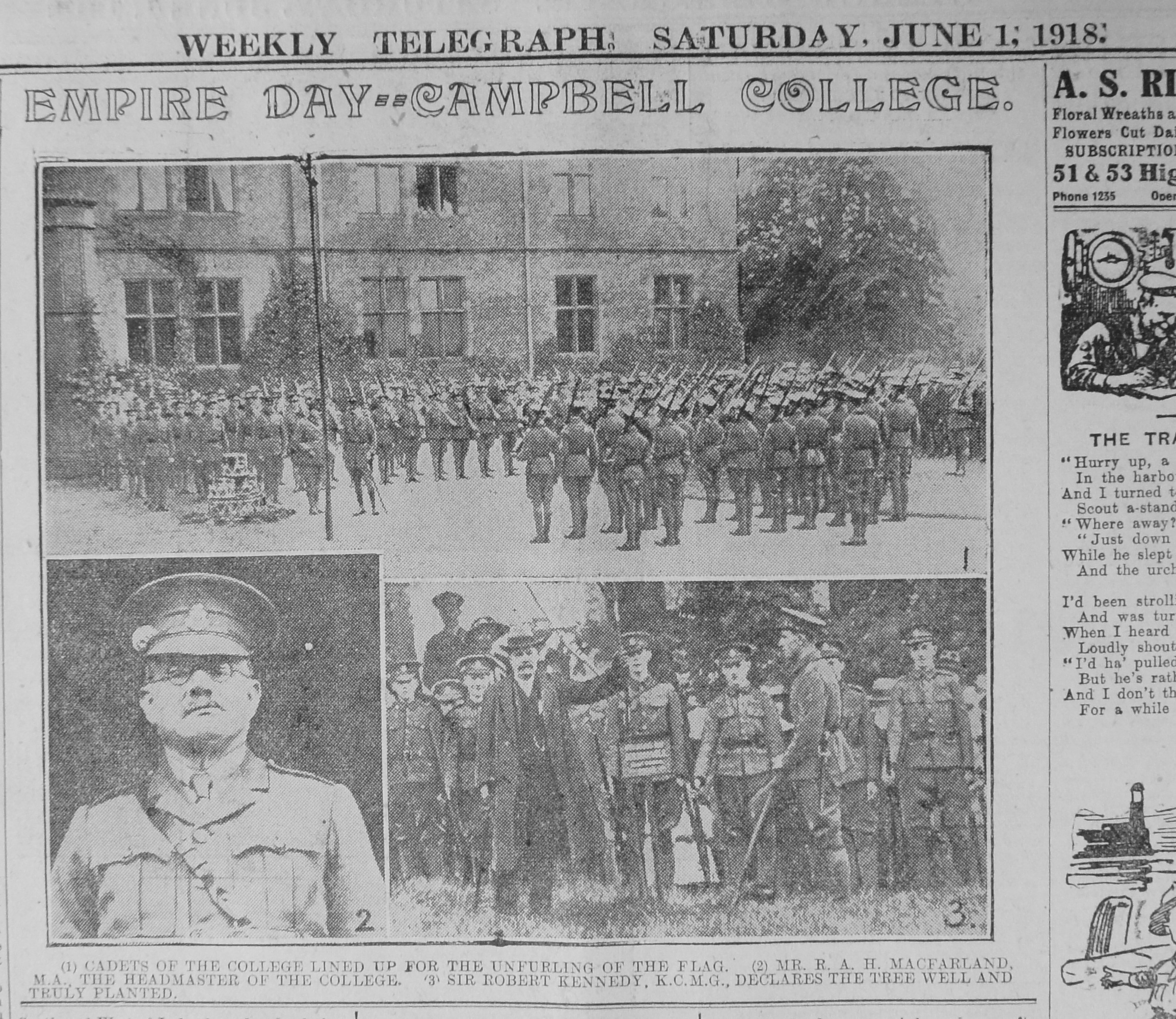 Empire Day 1918 - Campbell College (LT 01-06-1918)